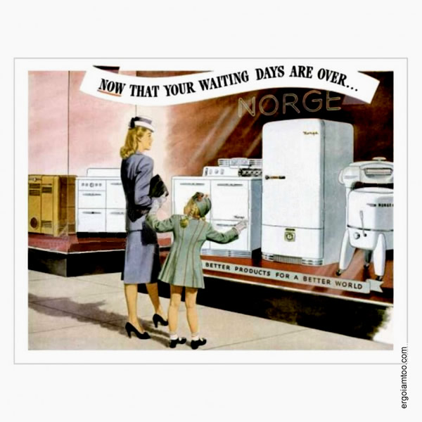 Elettrodomestici Dal Bianco al Nero Pubblicità 1946