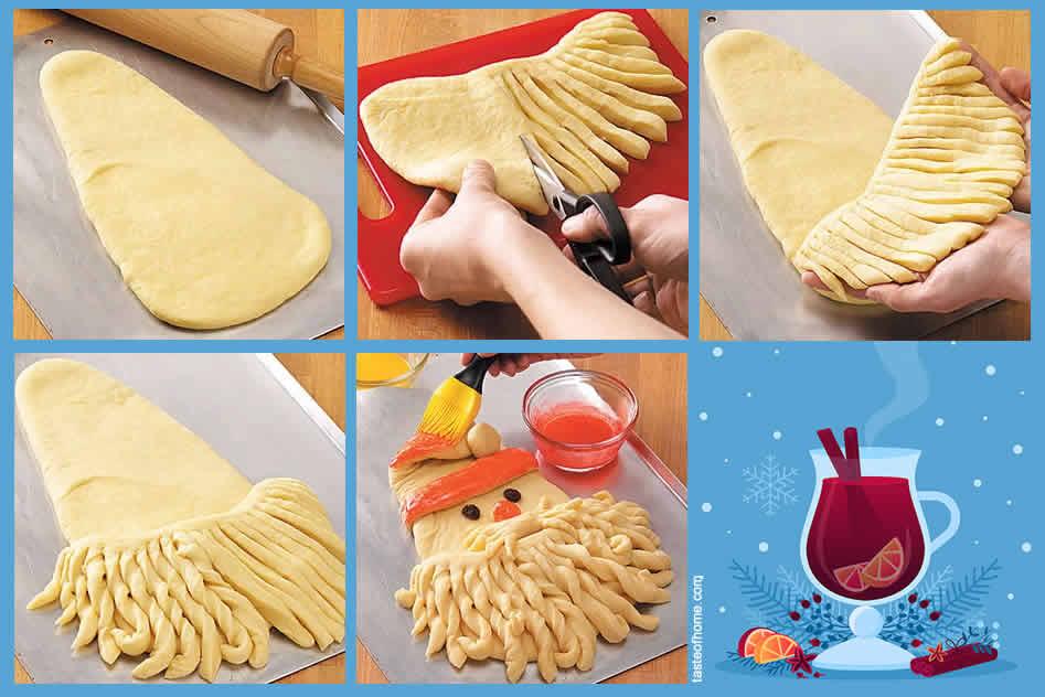 Feste di Natale - Cucinare con Babbo Natale Pane Procedimento