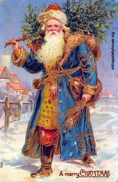Feste di Natale - Cucinare con Babbo Natale Vestito Blu