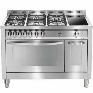Cucina Doppio Forno 120cm Lofra PD126MF+E2CIK Professional Acciaio Inox
