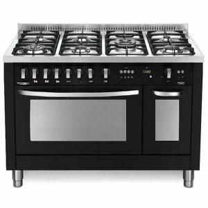 Cucina Lofra 120x60 Doppio Forno PNMD126GV+E/2CI Special Nero Matt