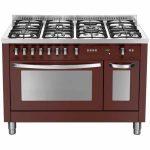 Cucina Lofra 120×60 Rosso Burgundy Doppio Forno PRD126GV+E/2CI Special