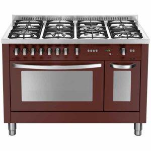 Cucina Lofra 120x60 Rosso Burgundy Doppio Forno PRD126GV+E/2CI Special