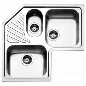 Lavello Angolo 83x83 Apell ROAN3I Incasso Acciaio Inox 2 Vasche