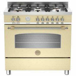 Cucina Bertazzoni 90x60 Heritage HER905MFESCRE Crema Forno Elettrico