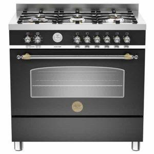 Cucina 90x60 Heritage Bertazzoni HER905MFESNEE Nero Forno Elettrico