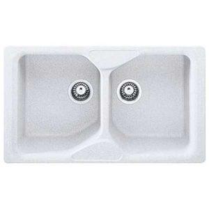 Lavello Franke Calypso 86x50 2 Vasche Bianco CUG 620