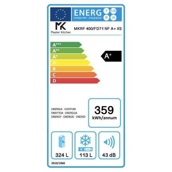 Frigorifero Largo 70cm MKRF 400/FD71 NF XS Master Kitchen Etichetta Energetica