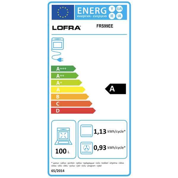 Forno 90 cm Lofra FRS99EE Dolcevita Acciaio Etichetta Energetica