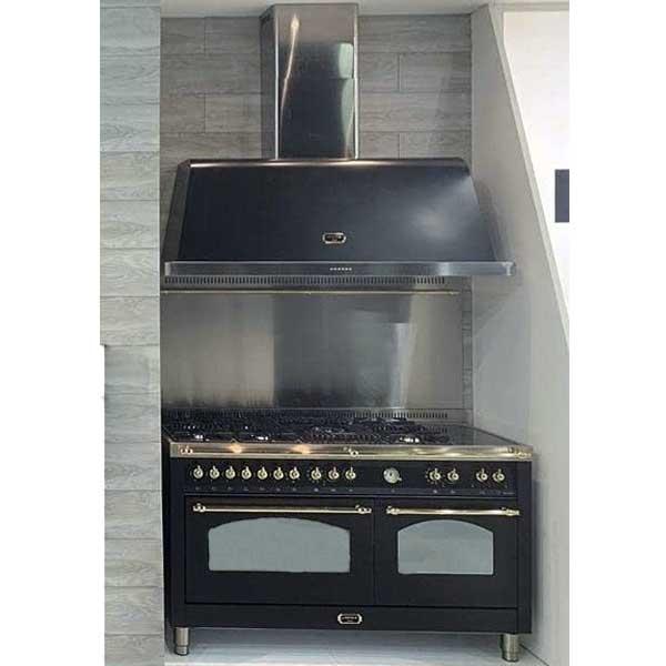 Cucina Lofra Dolcevita 150 cm Doppio Forno RNMD156MFT+MFT/AEOV Nero Matt Cappa Splashback