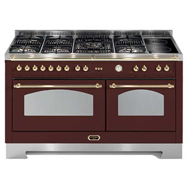 Cucina Lofra Dolcevita 150 cm Doppio Forno RRD156MFT+MFT/AEOV Rosso Burgundy