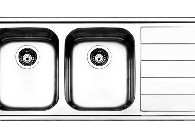 Lavello Apell LNP1001IRBC serie Linear Plus 1 vasca acciaio inox