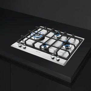 Piano cottura Smeg acciaio inox 60 cm