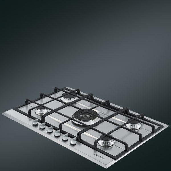 Piano cottura P272XGH in acciaio inox 5 fuochi
