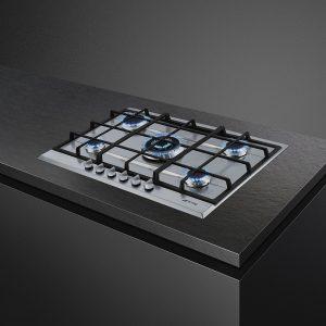 Piano cottura Smeg P272XGH in acciaio inox